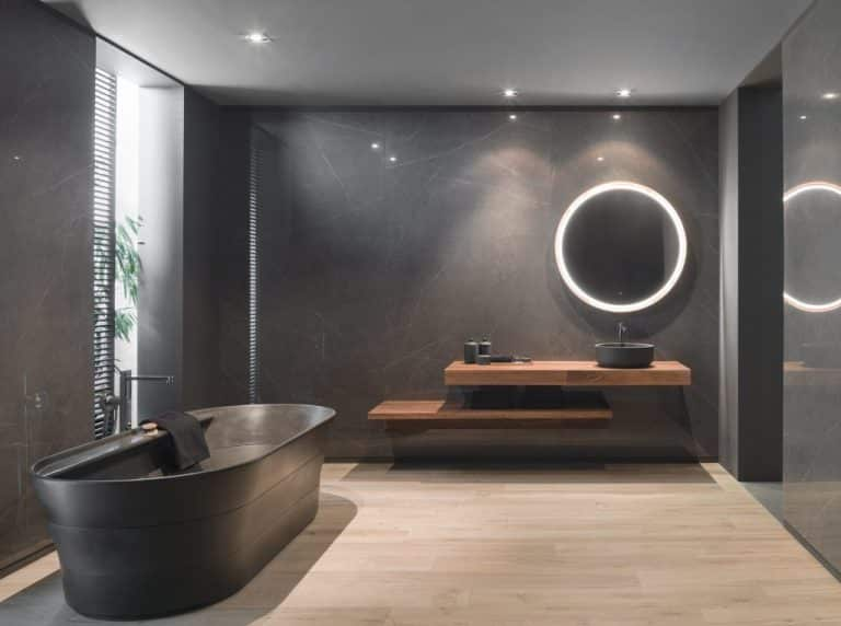 dark large format tiles by porcelanosa grupo urbatek