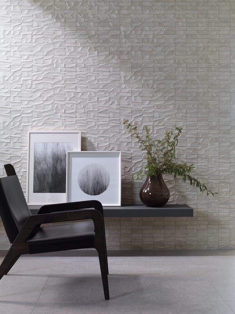 šedý obklad Porcelanosa Prada Acero 100x100cm, Prada Studio Acero 45x120cm