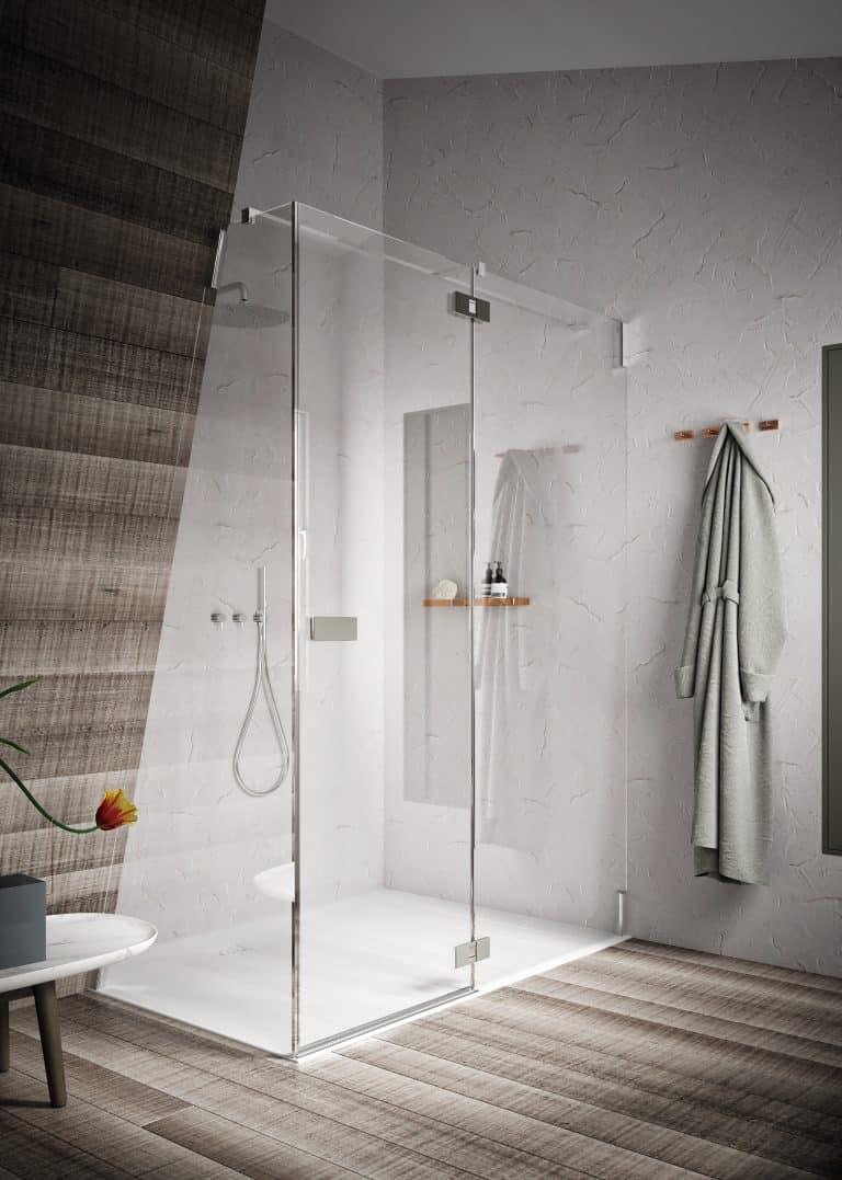 Sprchový kout v šikmině