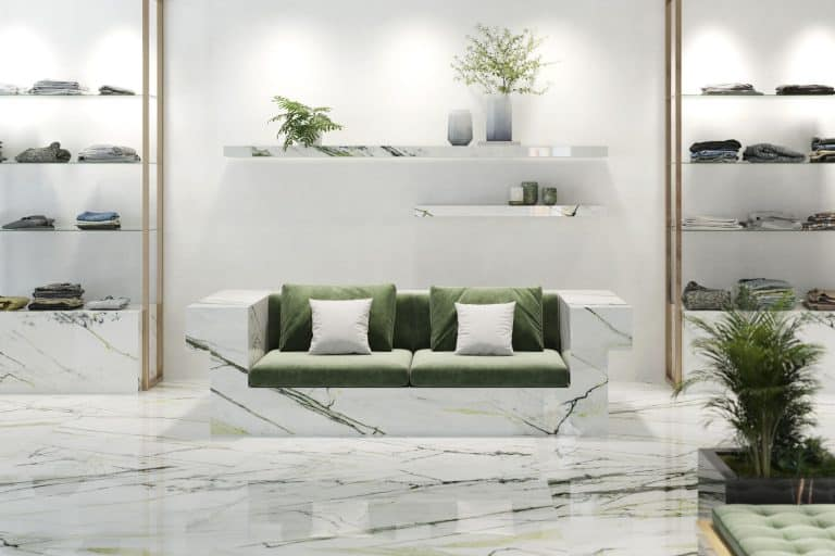 white marmol with green large format by Urbatek Porcelanosa
