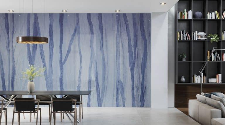 blue large format stone imitation urbatek and grey floor tiles bottega acero porcelanosa