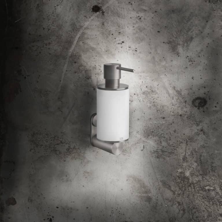 Keramický bílý designový dávkovač mýdla k instalaci na zeď