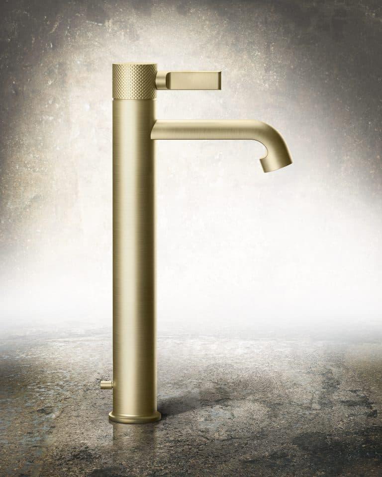 Zlatá luxusní vodovodní umyvadlová stojánková baterie